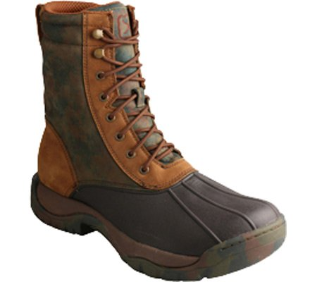 MGLW001 Twisted Waterproof Boot Camo Men's Rubber X Leather Boots Brown Guide TX AnaU1Sn
