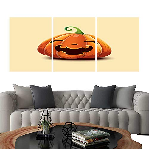 UHOO Pictures Paintings on Canvas WallRealistic Vector Halloween Pumpkin Happy face Halloween Pumpkin Isolated on Light Background 2. Brick Wall Stickers 16