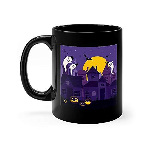 Halloween Night Town Mug 11 Oz Ceramic]()