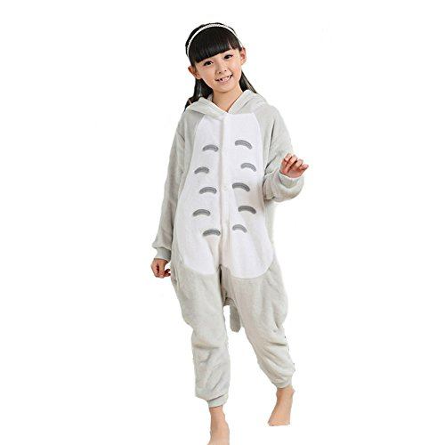 [Broadmix Girl's Anime Cosplay Halloween Costume Jumpsuit Homewear Size 125 Totoro] (Totoro Costume Girl)