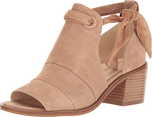 Nine West Womens Rollicking Suede Peep Toe Ankle Strap Heeled Sandals Wheat Suede