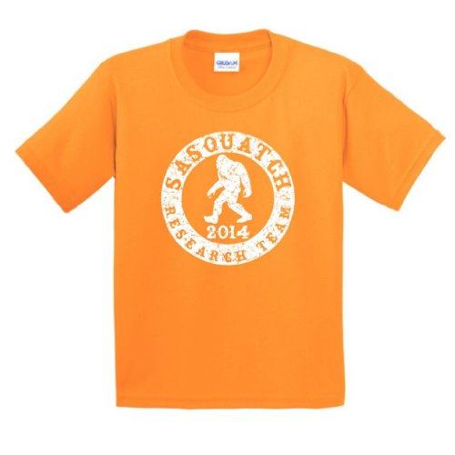 Sasquatch Research Team Youth T-Shirt Medium Tangerine
