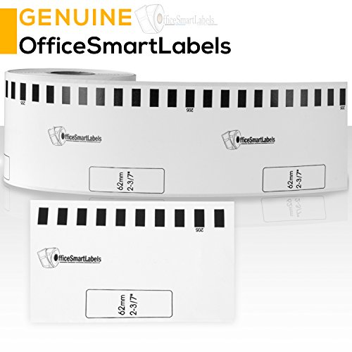 OfficeSmartLabels Brother Compatible DK2113 DK-2113 Black on Clear Continuous Length Film Tape (2.4 in x 50 ft (62 mm x 15.2 m)) - Label With Permanent Cartridge (Non-Detachable) (Full Set) (1 Pack) Photo #5