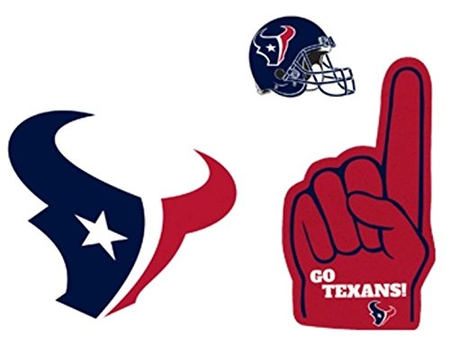 FATHEAD Houston Texans Team Set of 3 Logo Helmet Foam Finger Official NFL Vinyl Wall Graphics 6