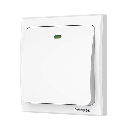 acegoo wireless wall switch self powered kinetic switch no wiring rh amazon co uk light switch timer no wiring light switch covers no wiring
