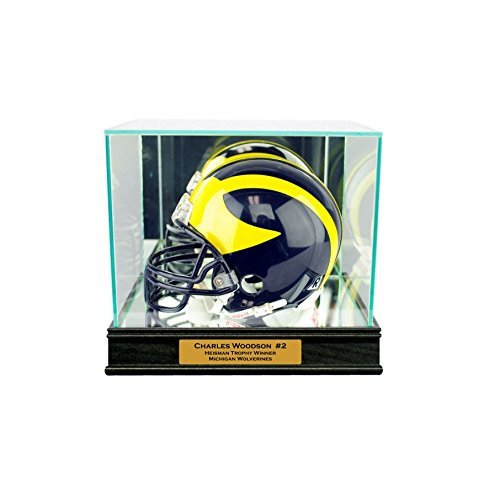 Perfect Cases Mini Helmet Display Case with Engraving ()