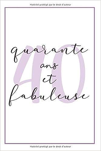 Anniversaire 40 Ans Pour Elle Carnet De Notes Idée Cadeau