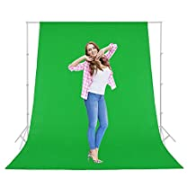 Koval Inc. Photography Photo Background Muslin Backdrop Color Optional (9' x 6' ft, Green)