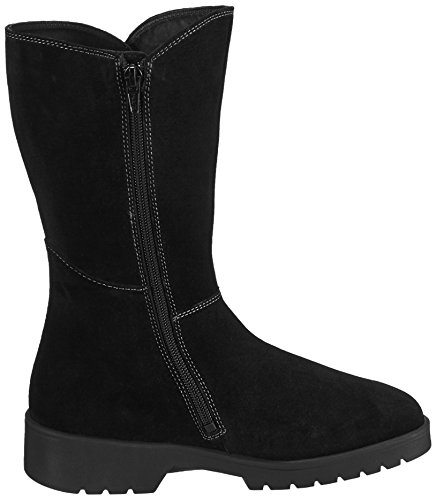 Ganter ELLEN-STIEFEL, Weite G - botas de caño alto de cuero mujer negro - Schwarz (schwarz 0100)