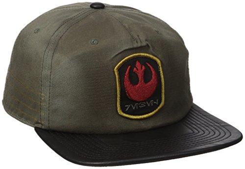 Bioworld Men's Star Wars Rogue Distressed Rebel Slouch Snapback Cap, Tan, One - Wars Star Snapback