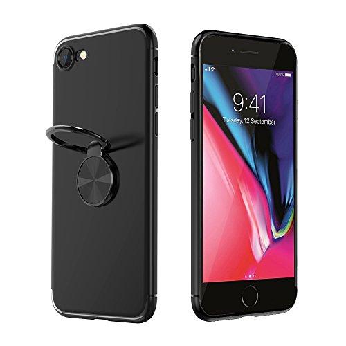 iPhone 7 / iPhone8 ケース リング Baseus iPhone 7 / iPhone8 カバー リング アイフォン7/8ケース 指紋防止 高品質なTPU バンパーケース リング付き スタンド機能 マグネット 車載ホルダー対応 ストラップホール付き ケース 軽量 衝撃防止 擦り傷防止 高級感 薄型 iPhone7 / iPhone8用 カバー 携帯カバー