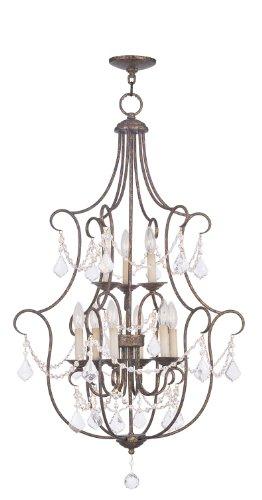 (Livex Lighting 6449-71 Chesterfield 9 Light Foyer, Hand Applied Venetian Golden Bronze )