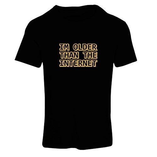 Camiseta mujer Soy más viejo del Internet idea divertida del regalo de cumpleaños Negro Oro