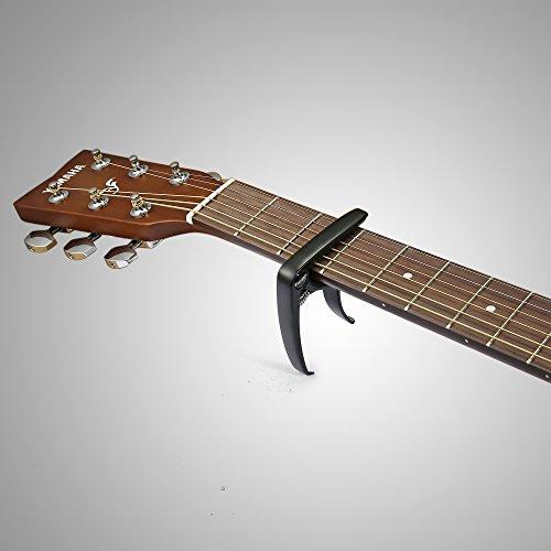 Finrezio 3 Pcs Classical Guitar Capos with 8 Pcs Guitar Picks for Acoustic Guitar (3 Colors a set) by Finrezio (Image #4)