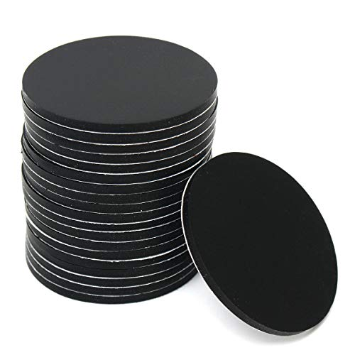 OKIl 20Pcs 40mm Round Black Silicone Oval Model Bases Support for Wargames Table Games Warhammer 40K