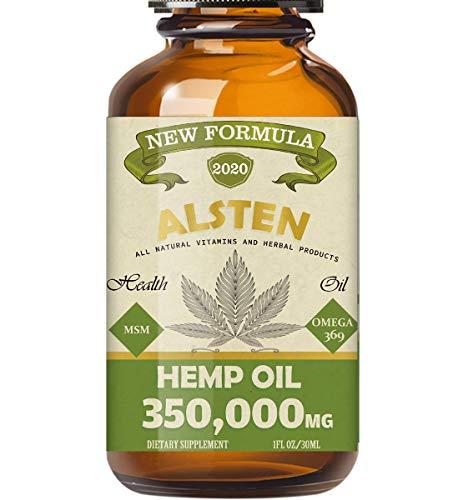 TOPNaturePlus 5000MG Hemp Oil, Hemp Oil Drops for Pain Relief, Stress, Anxiety and Sleep.