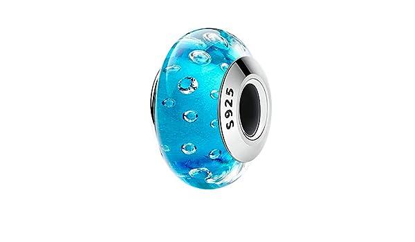Evereena Silver Beads Bracelet for Girls White Murano Glass Womens Jewelry