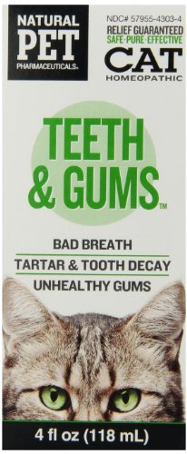 Natural Pet Pharmaceuticals by King Bio Teeth and Gums Control for Cat, 4-Ounce