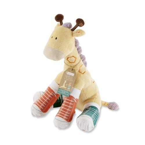 Baby Aspen, Herbie in Hightops Plush Giraffe and 2 Pair of Socks for Baby, 0-6 Months (Slam Dunk Stuffed Animal)