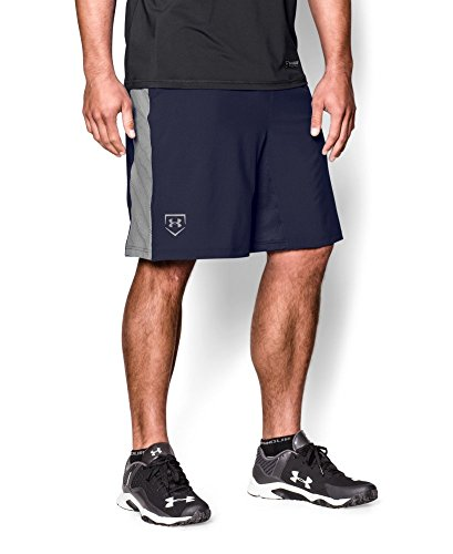 Under Armour Mens UA Undeniable Baseball Training Shorts Large Midnight Navy