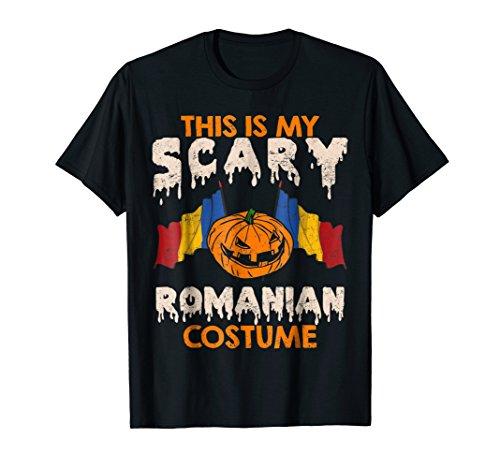 Romanian Costume Scary Romania Shirt Halloween Pumpkin]()