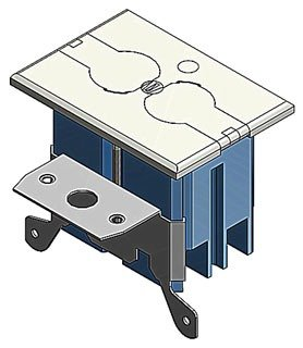 Thomas & Betts B121BFBRR Adjustable Residential Floor Box - Quantity 8 by THOMAS & BETTS CORPORATION (Image #1)