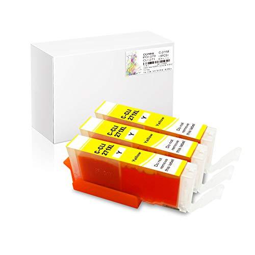 (Conink 3 Pack Pgi-270xl Cli-271xl Ink Cartridges Compatible to Canon Pixma Mg5720 Mg5721 Mg5722 Mg6820 Mg6821 Mg6822 Mg7720 Ts5020 Ts6020 Ts8020 Ts9020 Printer (3Y))