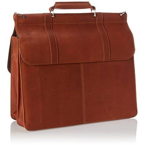 Kenneth Cole Reaction ''Mind Your Own Business'' Colombian Leather Double Compartment Dowel Rod Portfolio/Computer Case/ Fits Most 15.4'' Laptops, Brown, One Size by Kenneth Cole REACTION (Image #2)