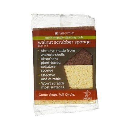 Walnut Scrubber Sponge, 2 ct, 6-pack (12 Sponges)