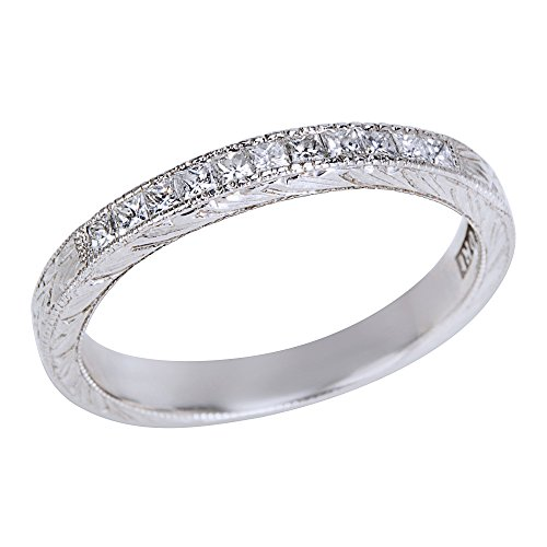 (BRAND NEW Tacori Diamond Wedding Band Ring in Platinum (0.25 CTW))