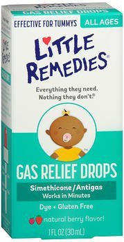 Little Tummy's Gas Relief Drops Natural Berry Flavor - 1 oz, Pack of 2