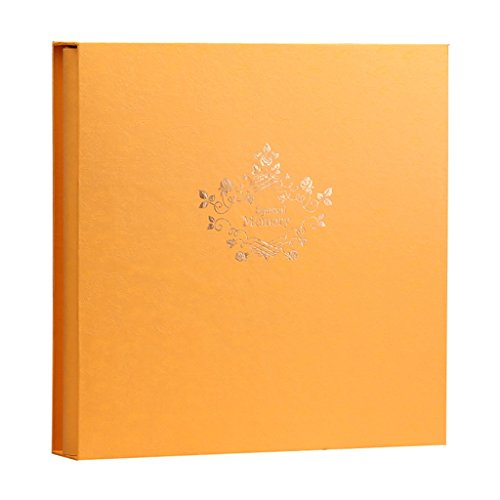 ZYANZ Interstitial Hybrid Photo Album, Wedding Commemorative Photo Album, Large Capacity 1198 Sheets (Color : Tyrant Gold, Size : 37x37x6cm)