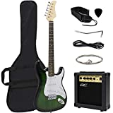 Best Choice Products 39in Full Size Beginner Electric Guitar Starter Kit w/Case, Strap, 10W Amp, Strings, Pick, Tremolo Bar (Green)