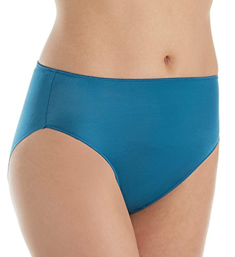 TC Fine Intimates Microfiber Wonderful Edge Hi-Cut Brief Panty (A404) L/Corsair