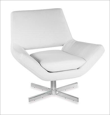 Avenue Swivel - Avenue Six Yield Narrow Swivel Chair, White Vinyl