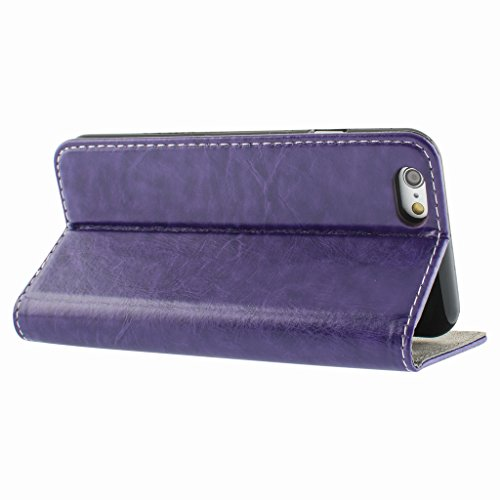 Best Style Apple iphone 6s Case cover, Apple iPhone 6s Purple Designer Style Wallet Case Cover
