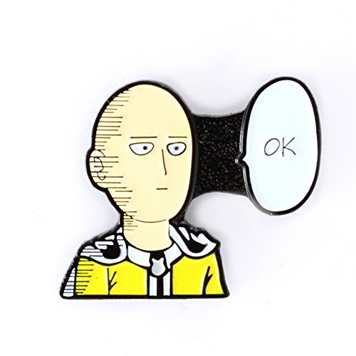 Enamel Mango (ONE Punch Man Saitama Pin Anime Series Manga Enamel Pin)