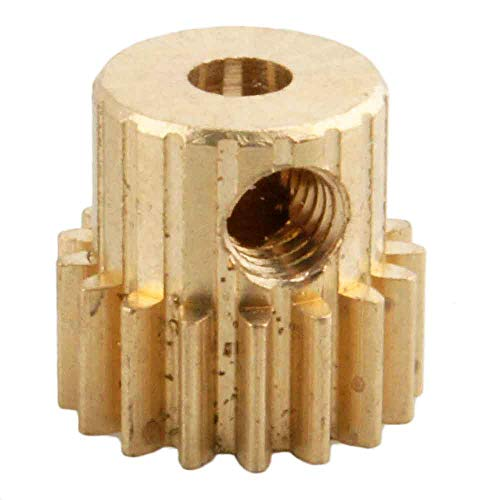 Hockus Accessories 11119 Motor Gear (17T) Metal Brass Pinion Parts for 1/10 EP RC Car Monster Truck 94111