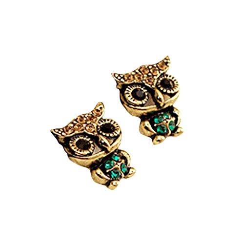 Womens Earrings,Lamolory Cute Cat Stone Crystal Rhinestone Vintage Ear Stud Earrings (Multicolor, (Solid Threader Earrings)