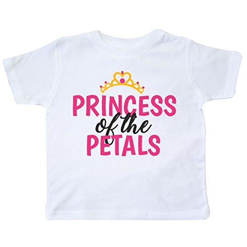 inktastic - Princess of The Petals with Crown Toddler T-Shirt 4T White 28b5b