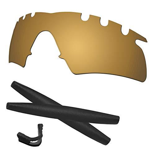 Predrox Metallic Bronze Mirror M Frame Hybrid Vented Lenses & Rubber Kits Replacement for Oakley Polarized ()