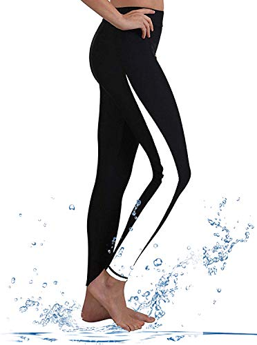 GEEK LIGHTING Womens Wetsuit Pants UV Protective Surfing Board Diving Canoing Pants White Small ()