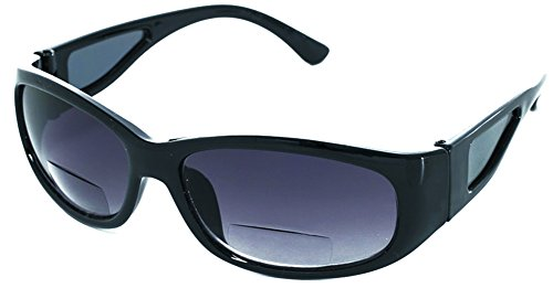 Rodeo F3 Wrap Around Bi-Focal Reader Sunglasses w/ Side Lens (Slate, - Sears Sunglasses