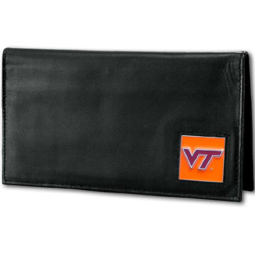 NCAA Virginia Tech Hokies Deluxe Leather Checkbook (Virginia Leather Checkbook Cover)