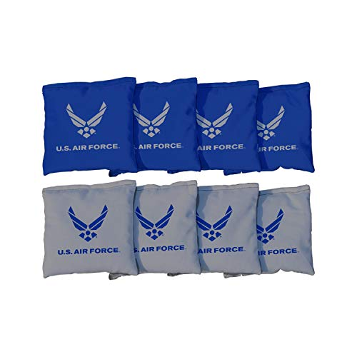 Victory Tailgate NCAA Collegiate Regulation Cornhole Game Bag Set (8 Bags Included, Corn-Filled) - Air Force - Air Force Academy - - Game Force Air Falcons