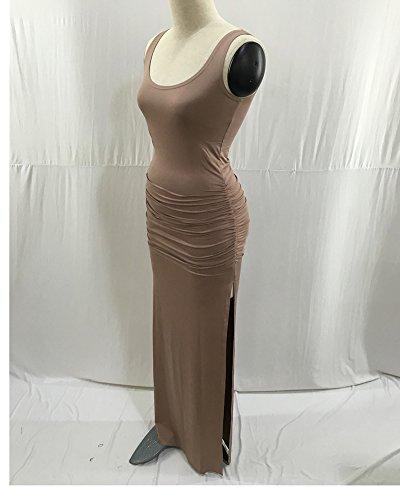 Elegante Abito Formale Penggeng Vestito Lunghi Vestiti Donna Albicocca Banchetto Sera HED29YIeW