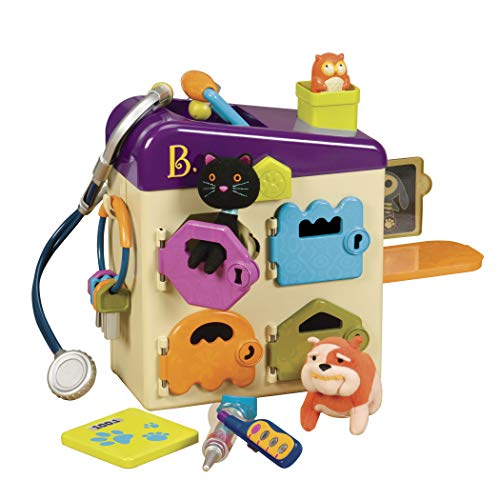 B. toys by Battat - B. Pet Vet Toy - Doctor Kit for Kids Pretend Play (8 pieces) (Chipettes Toys)