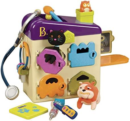 B. toys by Battat - B. Pet Vet Toy - Doctor Kit for Kids Pretend Play (8 pieces)