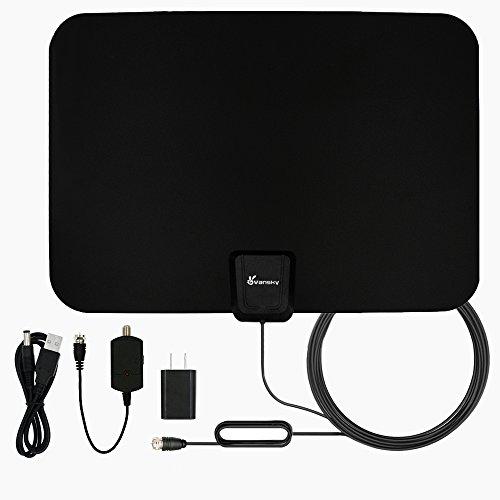 TV Antenna, Vansky Indoor Amplified HDTV Antenna 50 Mile Range