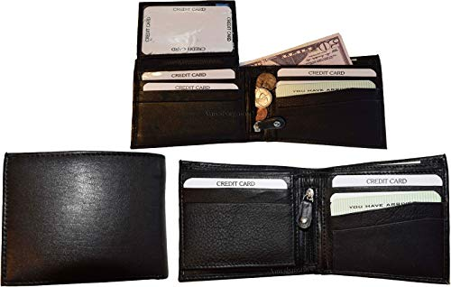 Spaces Zip Bifold 3 Coin case Men's Card 10 of New 3 Lot Leather Wallet Billfold H08wwqCdx